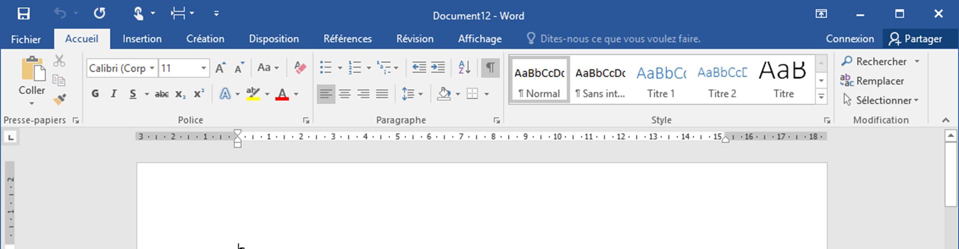 L'interface de Word