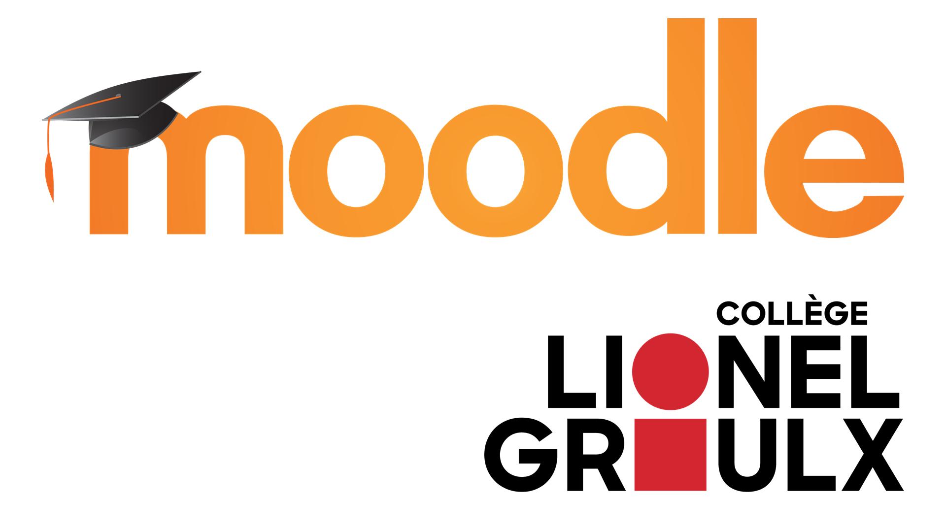 Logos de Moodle et du collège Lionel-Groulx