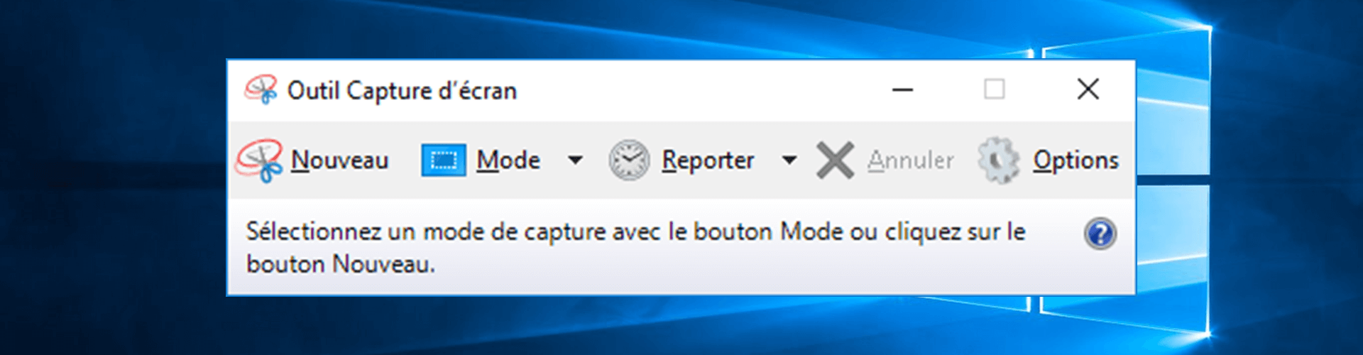 Capture d'écran Windows