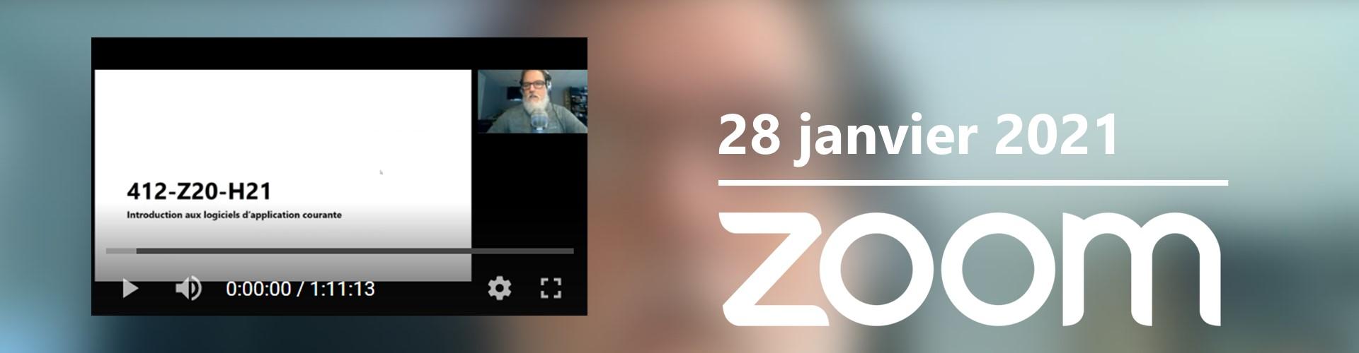 Cours sur Zoom semaine 1